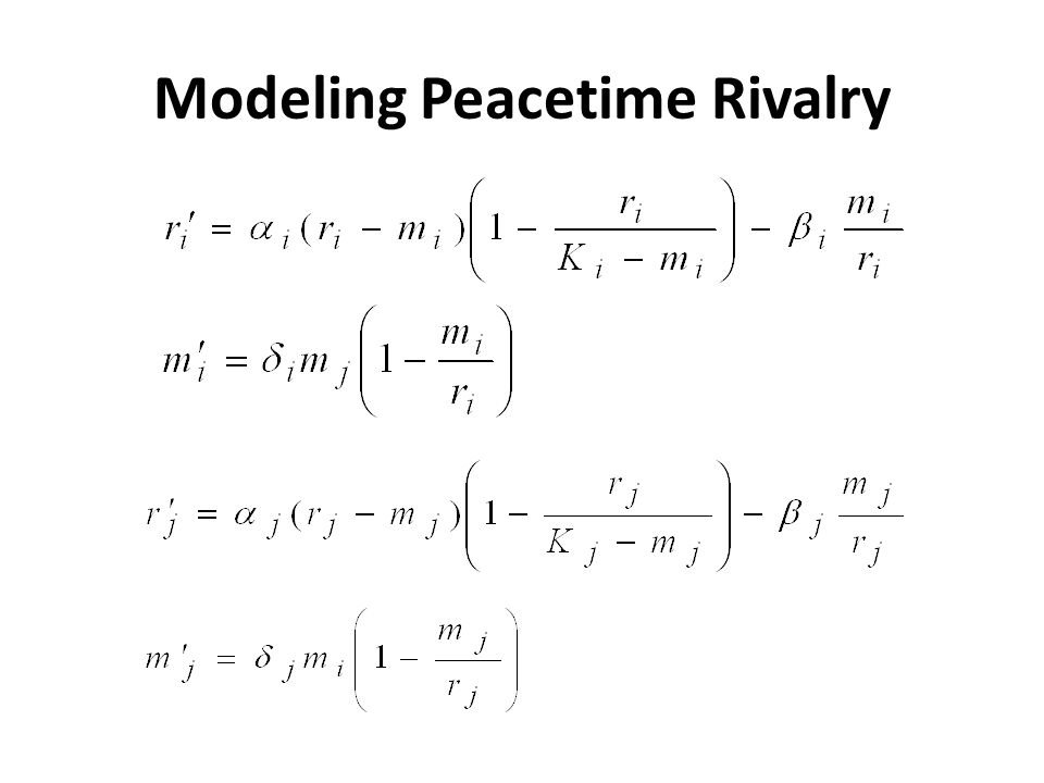 Modeling Peacetime Rivalry