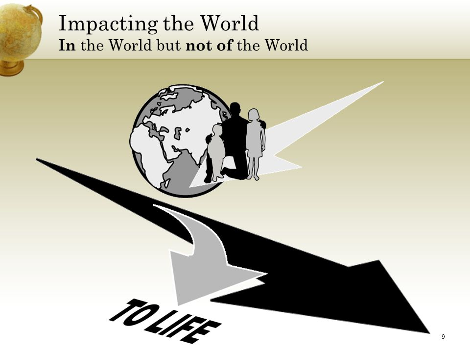 9 Impacting the World In the World but not of the World