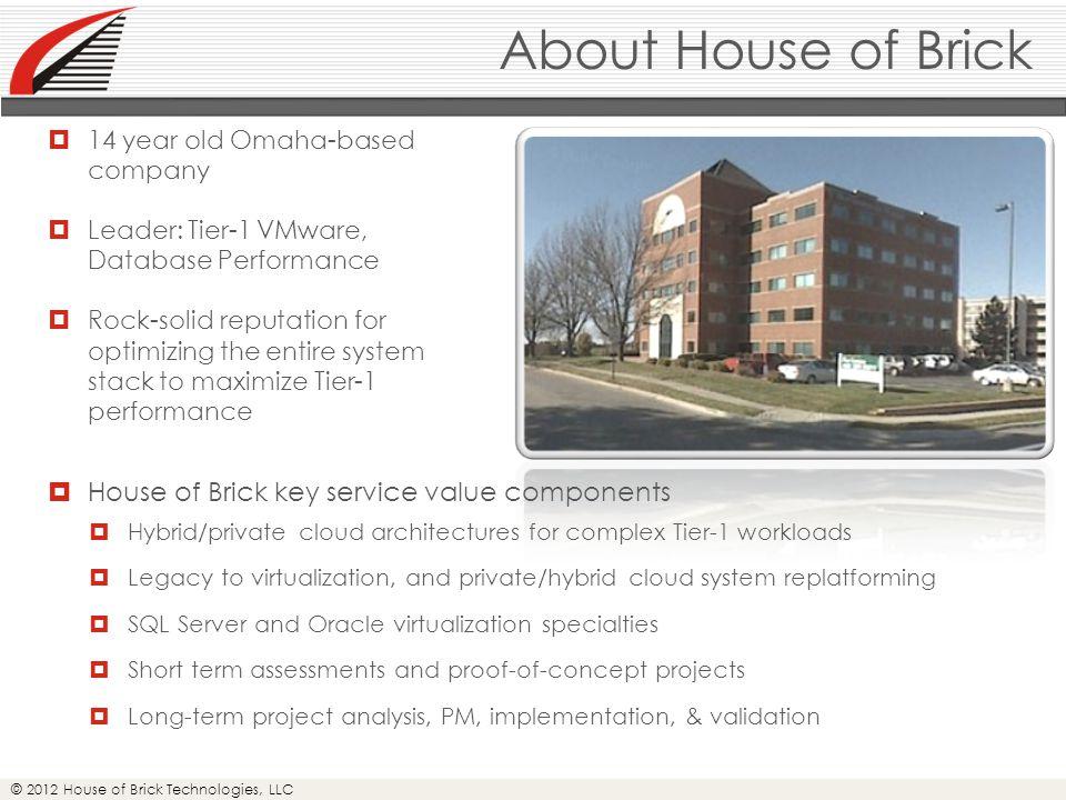 © 2012 House of Brick Technologies, LLC Database Size Myths  Database size has no impact on performance.
