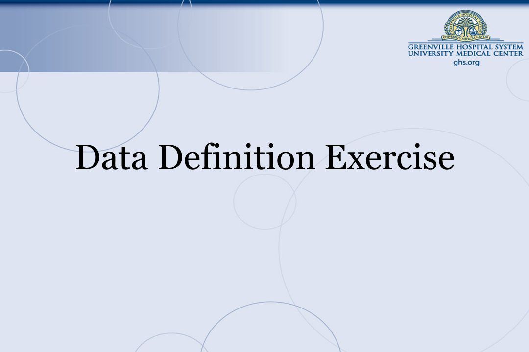 Data Definition Exercise
