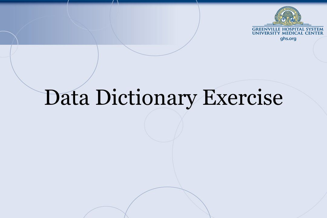 Data Dictionary Exercise