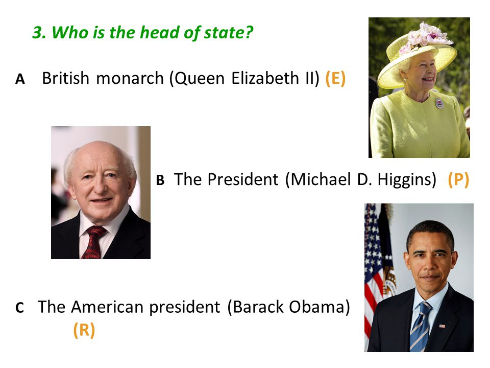3.Who is the head of state.