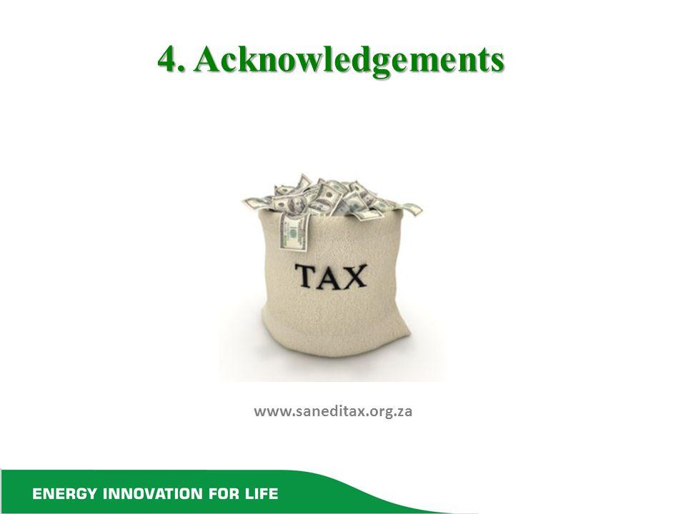4. Acknowledgements www.saneditax.org.za
