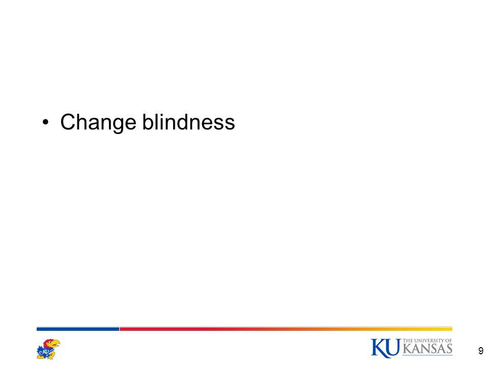 Change blindness 9