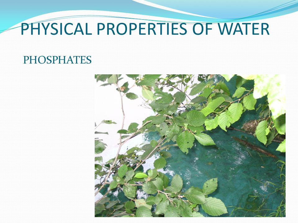 PHYSICAL PROPERTIES OF WATER PHOSPHATES 9