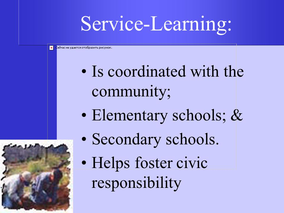 Is coordinated with the community; Elementary schools; & Secondary schools.