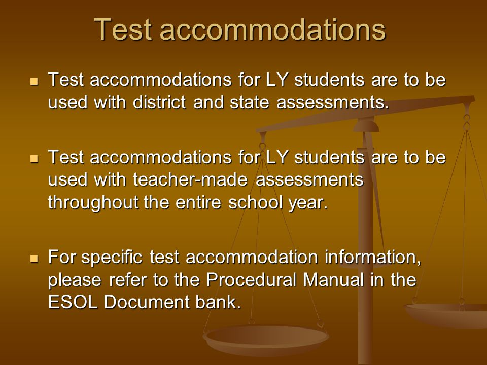 Another assessment given to ESOL students is the CELLA. CELLA stands for Comprehensive English Language Learning Assessment. T The CELLA is a state-ma