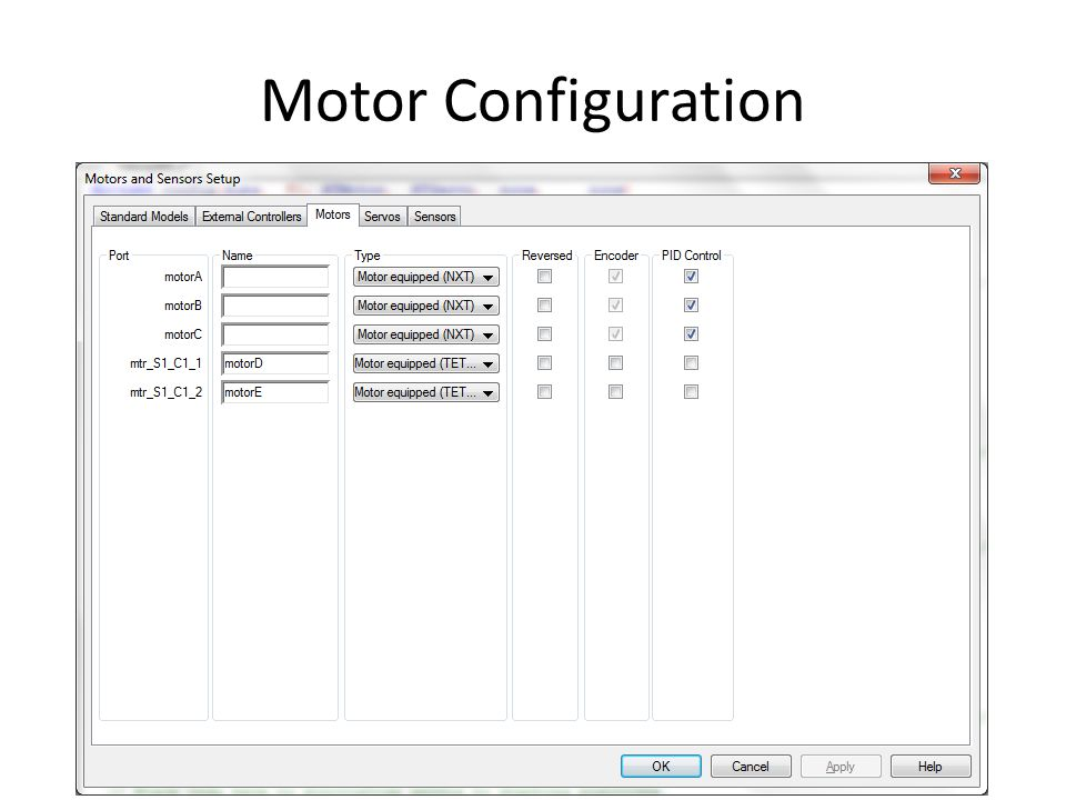 Motor Configuration