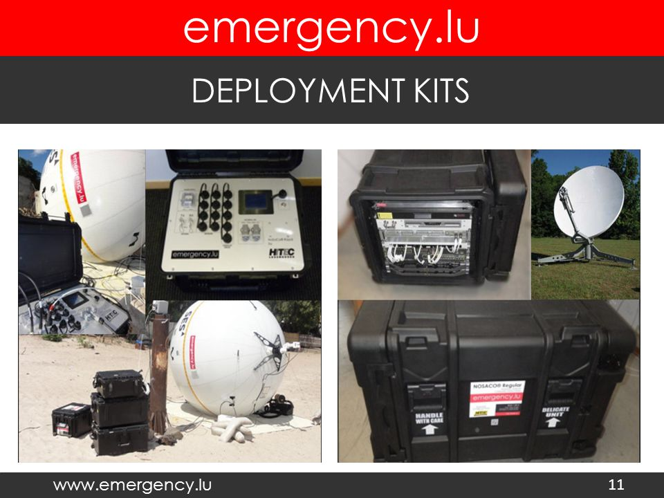 www.emergency.lu emergency.lu DEPLOYMENT KITS 11