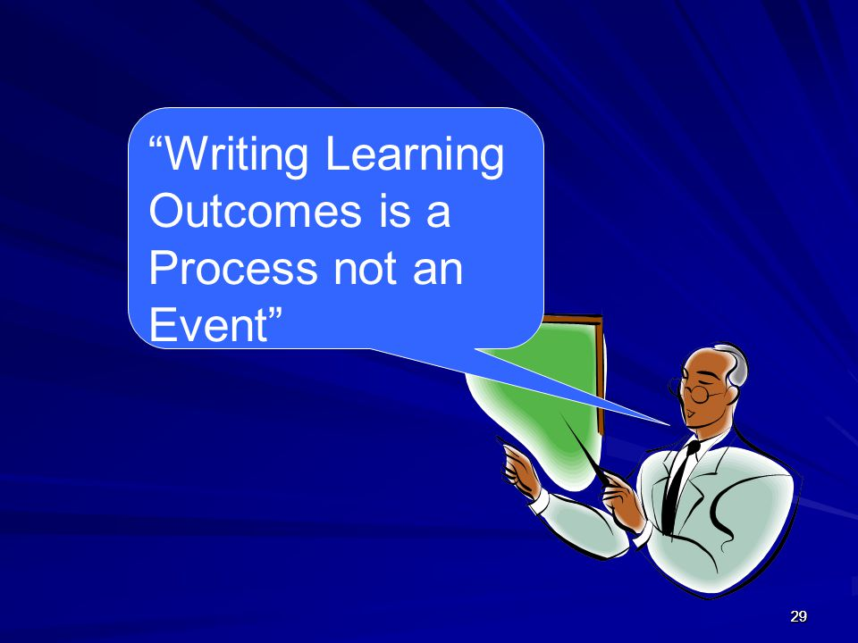 "292929 ""Writing Learning Outcomes is a Process not an Event"""