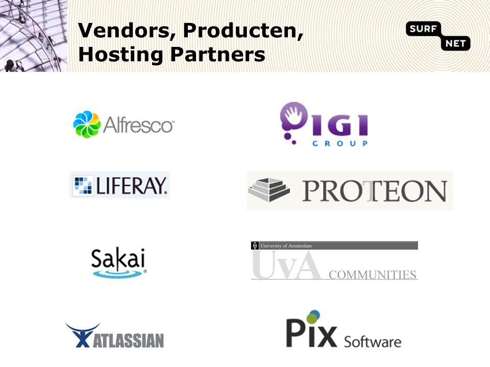 Vendors, Producten, Hosting Partners