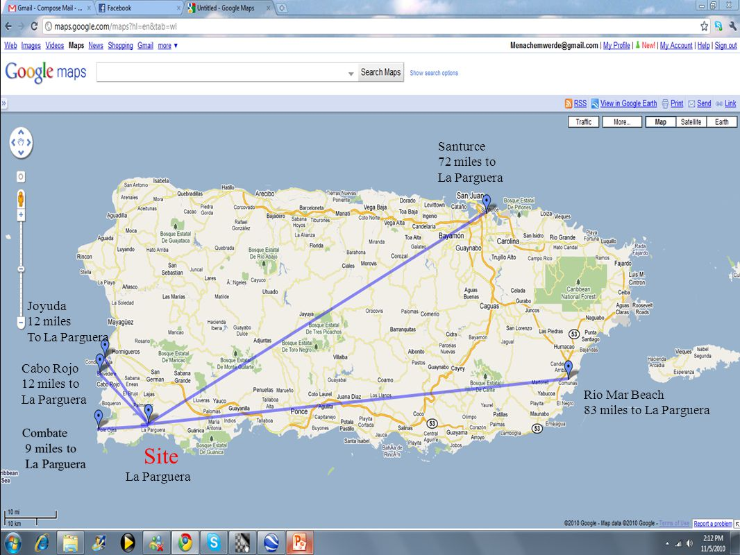 Santurce 72 miles to La Parguera Rio Mar Beach 83 miles to La Parguera Site La Parguera Cabo Rojo 12 miles to La Parguera Joyuda 12 miles To La Parguera