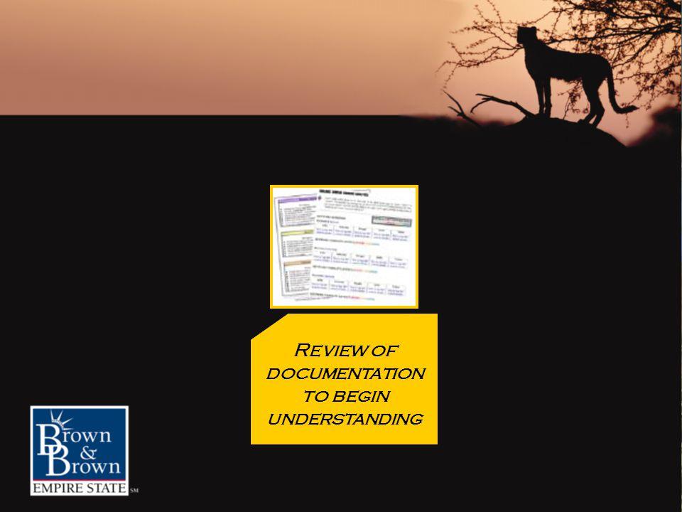 Review of documentation to begin understanding