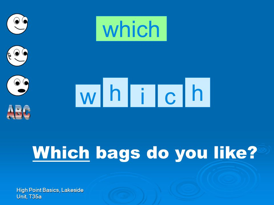 High Point Basics, Lakeside Unit, T35a Which bags do you like? which h cwi h
