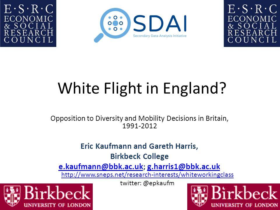 White Flight in England.