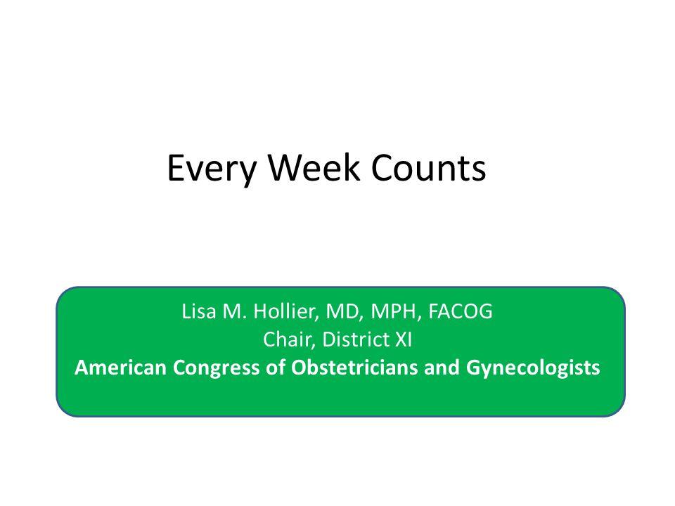 Every Week Counts Lisa M.
