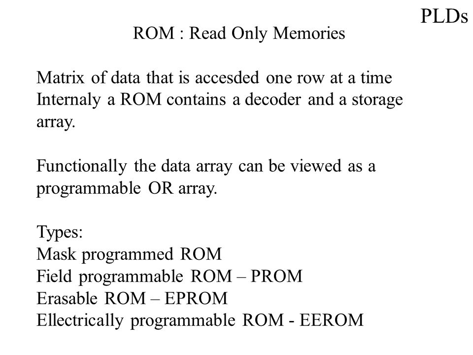Implementation Strategies Example of XOR PAL Example of Registered PAL