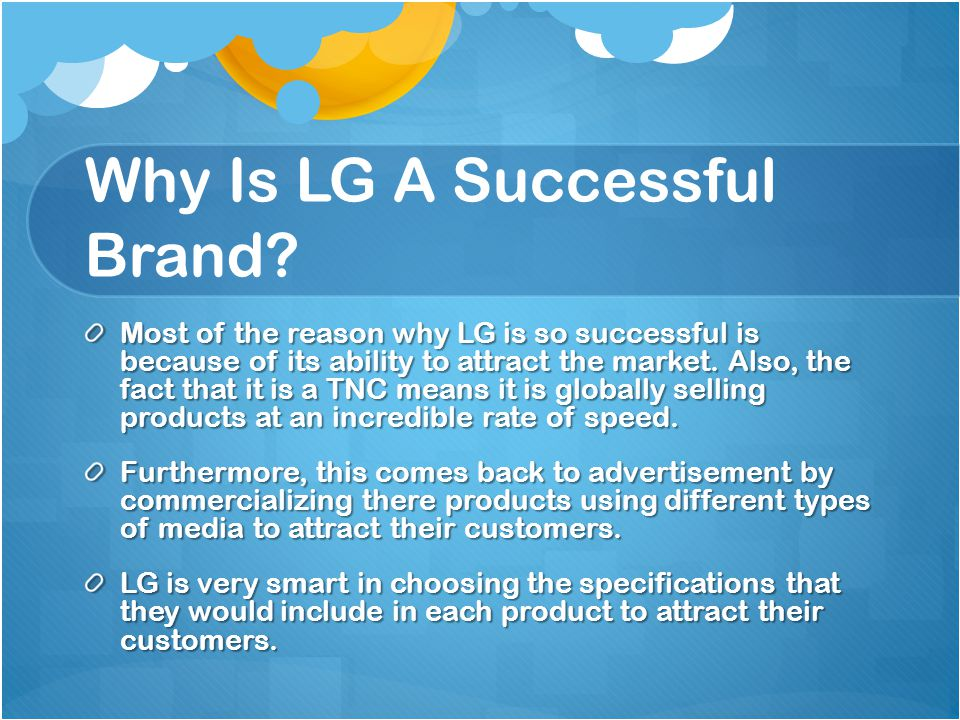 Why Is LG A Successful Brand.
