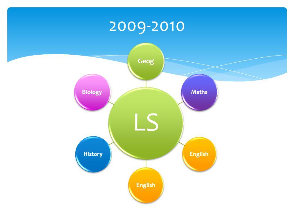 LS Geog Maths English History Biology 2009-2010