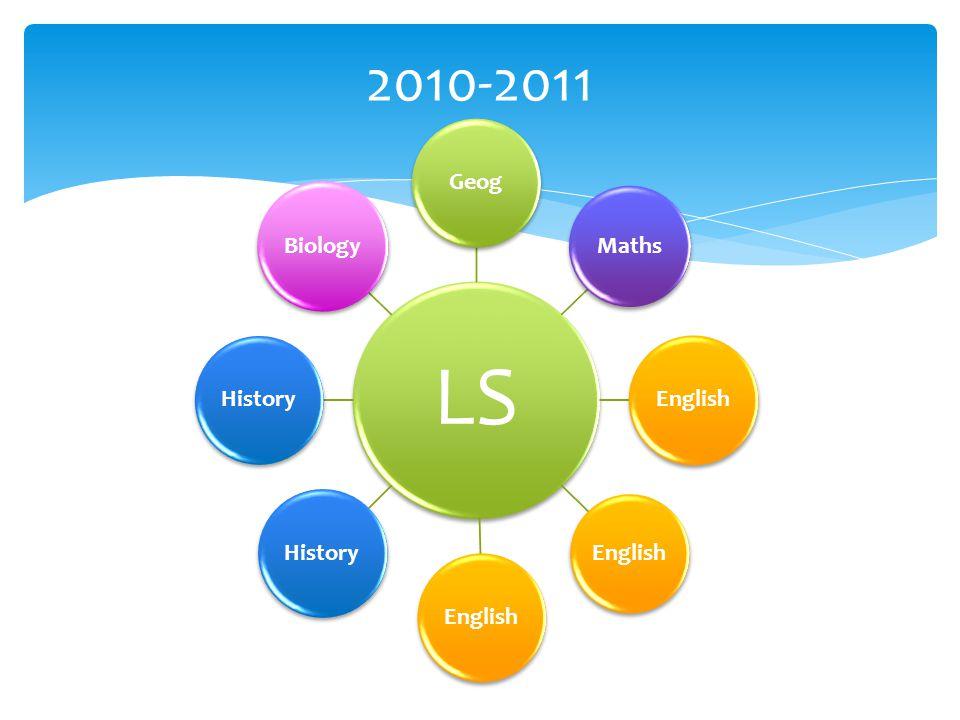 LS Geog Maths English History Biology 2010-2011