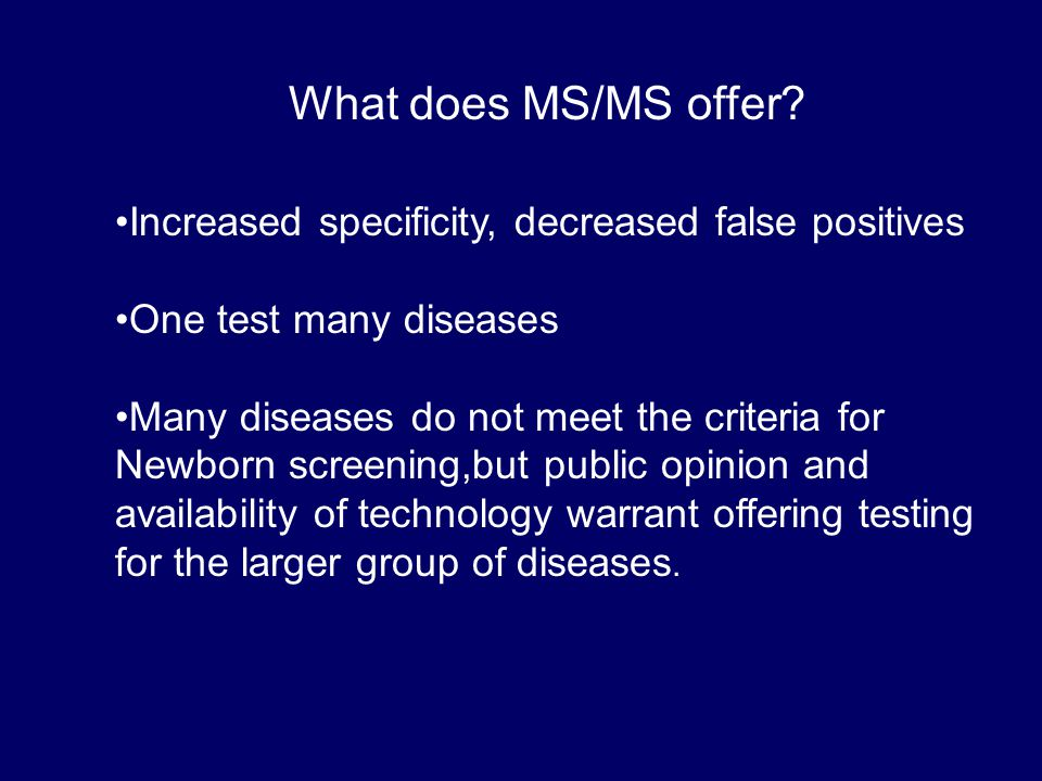 What does MS/MS offer.