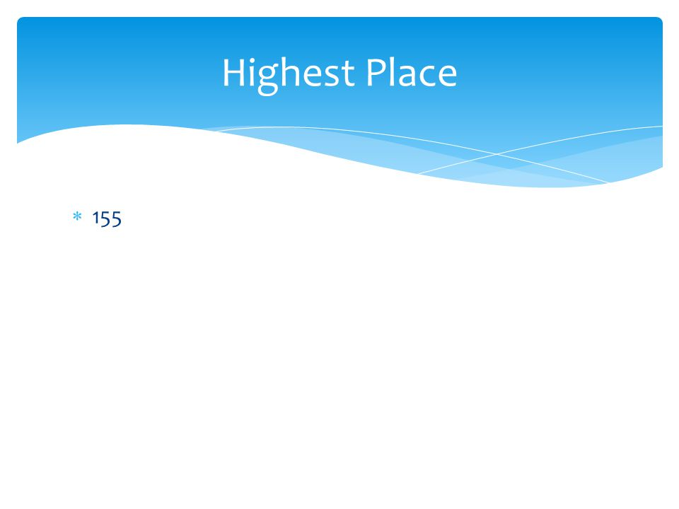  155 Highest Place