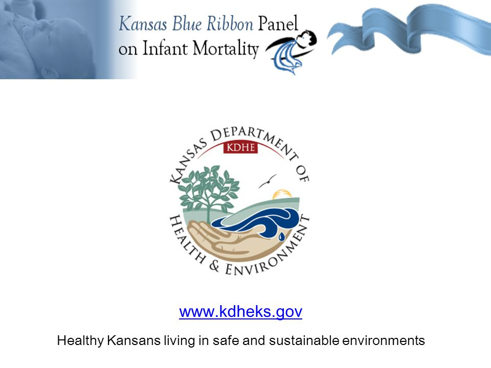 www.kdheks.gov Healthy Kansans living in safe and sustainable environments