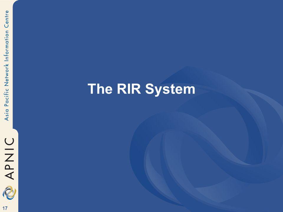 17 The RIR System