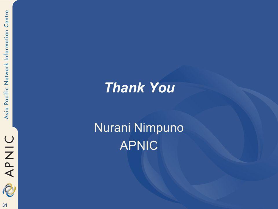 31 Thank You Nurani Nimpuno APNIC