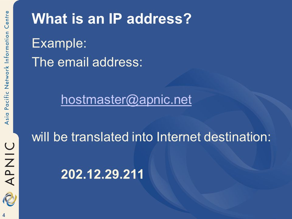 4 What is an IP address.