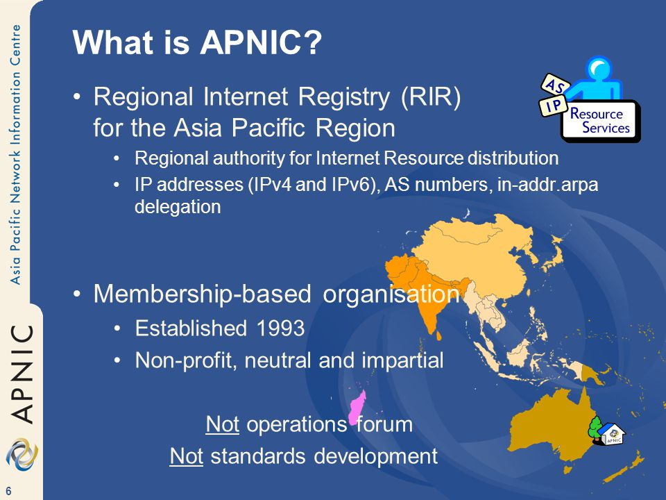 6 What is APNIC.