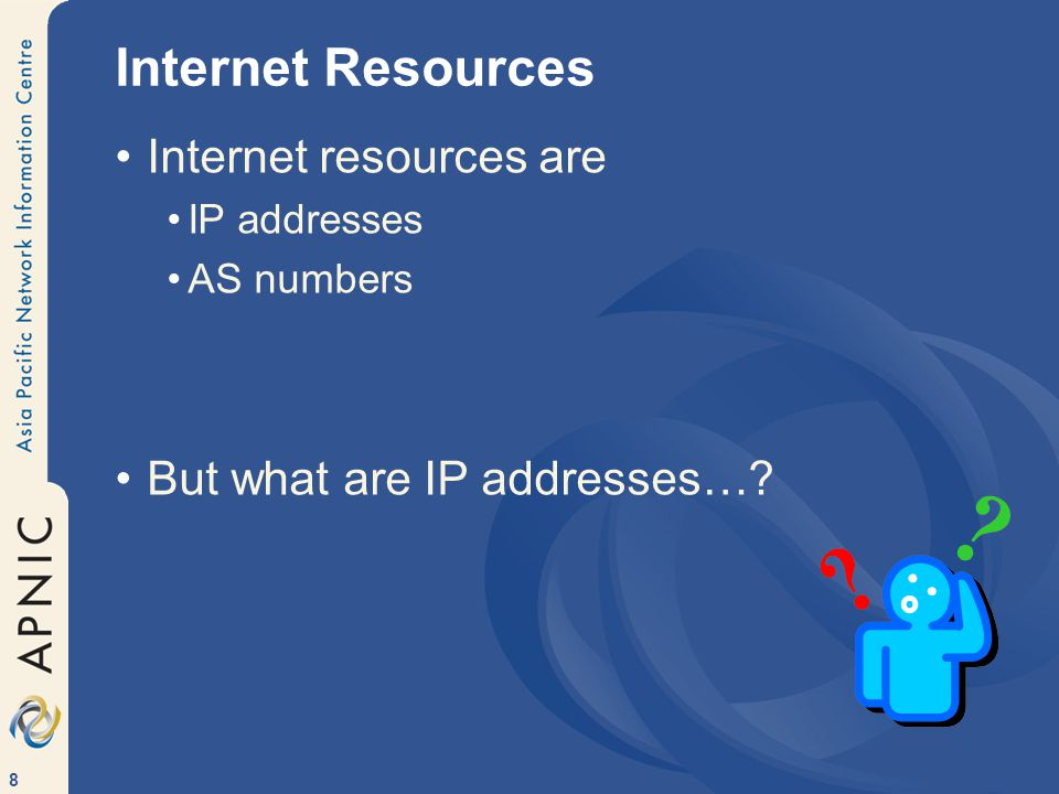 29 History of the Internet …and the RIR system I n t r o P a s t P r e s e n tF u t u r e