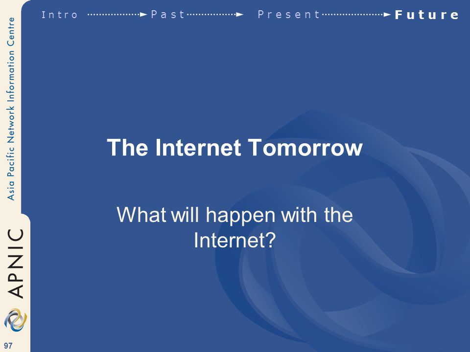 97 The Internet Tomorrow What will happen with the Internet.