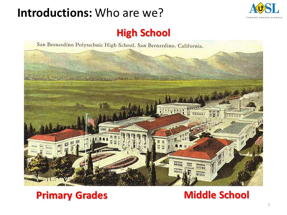 7 Primary Grades Middle School High School