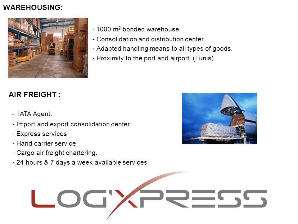 - A fleet of adapted to your requirements vehicles.