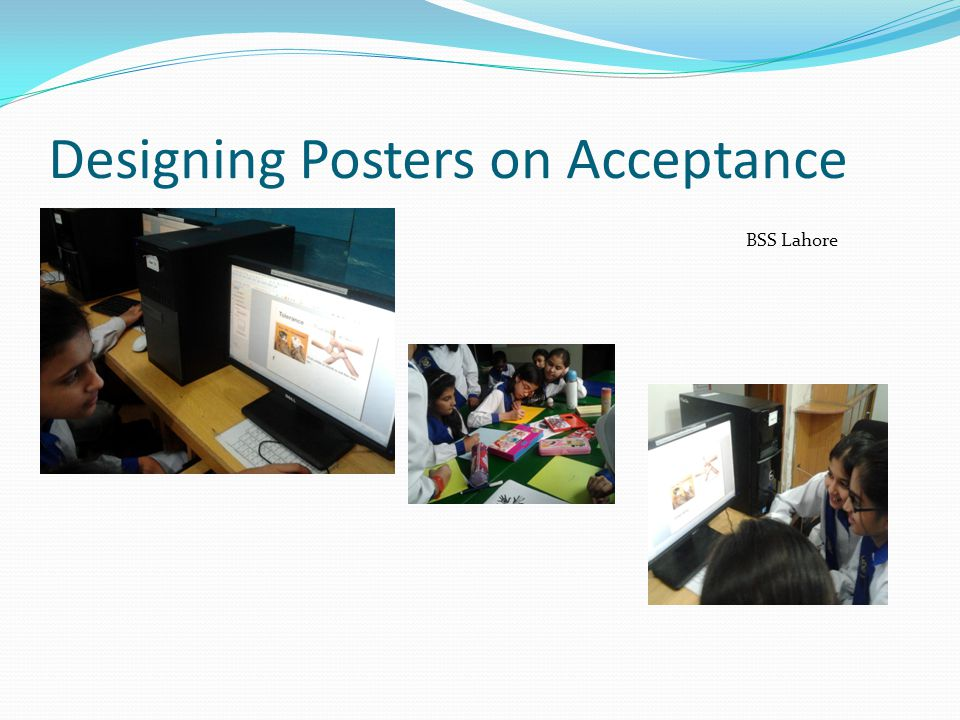 Designing Posters on Acceptance BSS Lahore