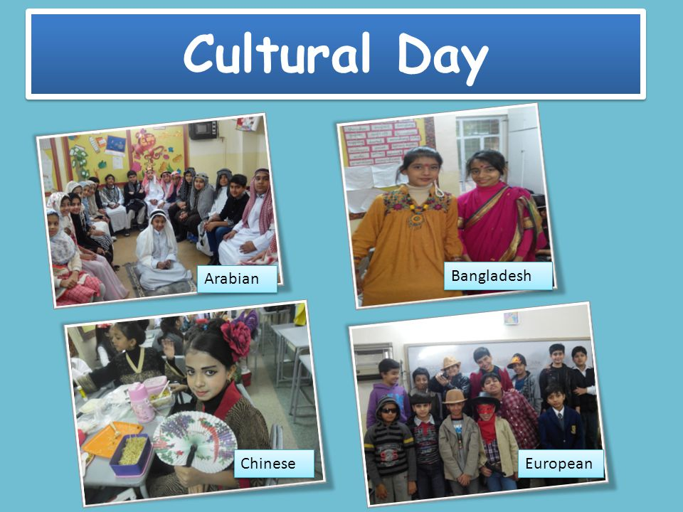 Cultural Day Arabian European Chinese Bangladesh