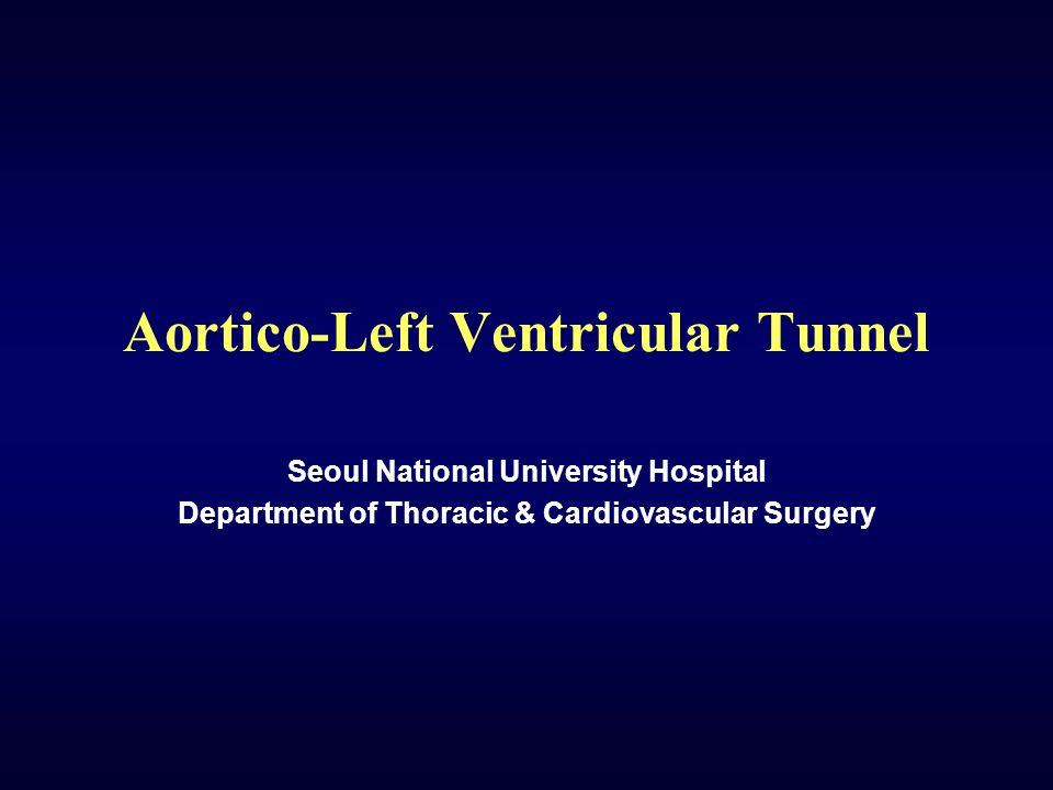 Aortico-Left Ventricular Tunnel Definition A short abnormal pathway, beginning in an aneurysmal dilation of the right sinus of Valsalva (rarely, the left), just to the left of orifice of right coronary artery, and passing through upper end of the ventricular septum to open into the left ventricular cavity.