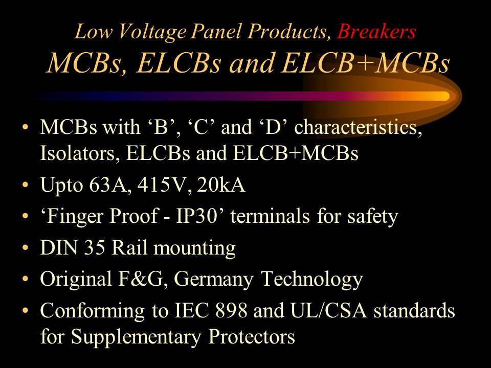 Low Voltage Panel Products, Controls Timers, Totalisers & Controllers A.C.