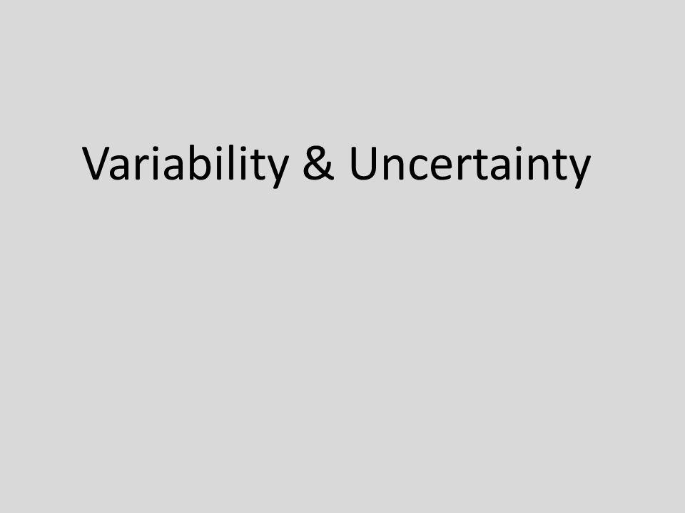 Variability & Uncertainty