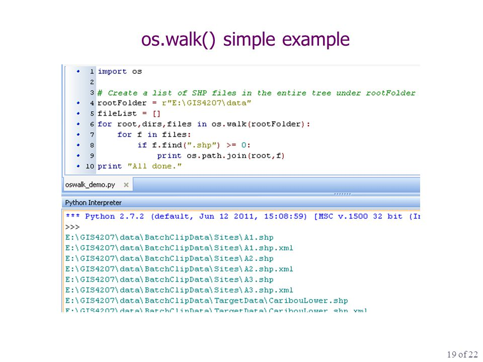 19 of 22 os.walk() simple example