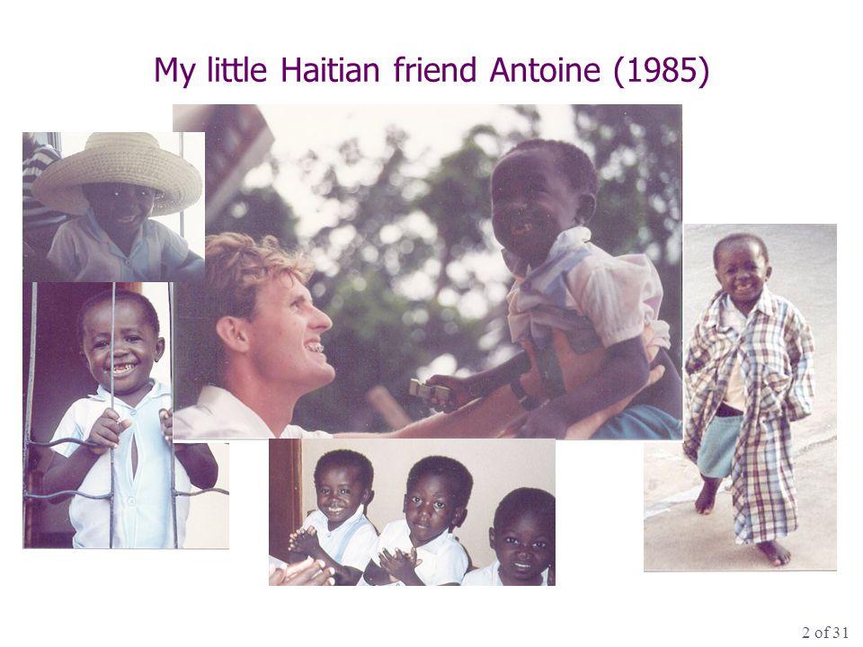 2 of 31 My little Haitian friend Antoine (1985)