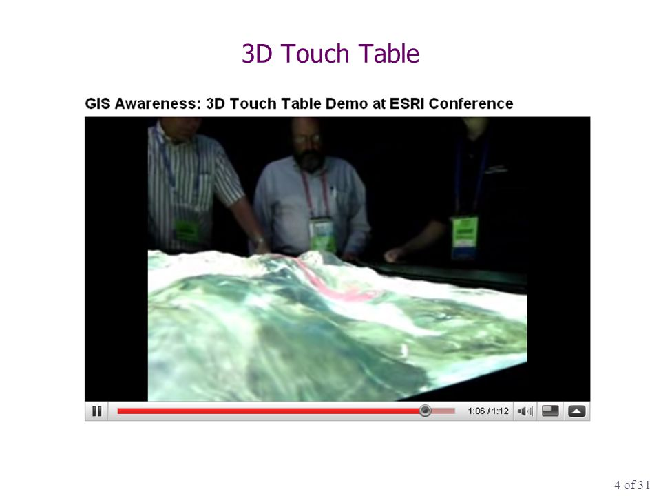 4 of 31 3D Touch Table