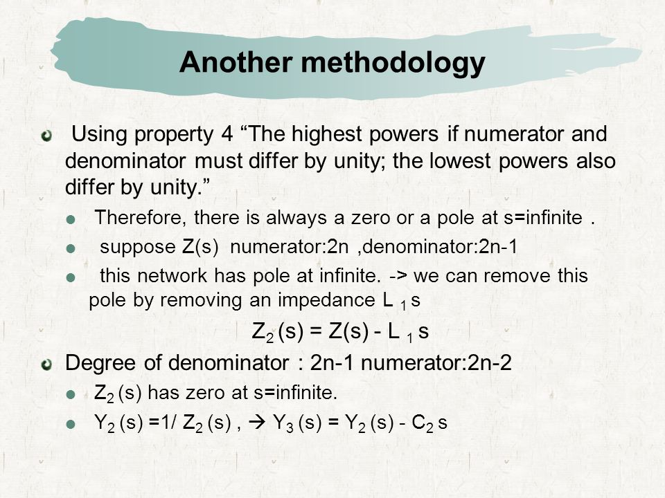 """Another methodology Using property 4 """"The highest powers if numerator and denominator must differ by unity; the lowest powers also differ by unity."""" """