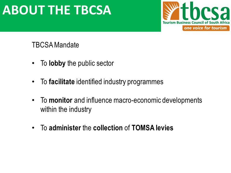 TOMSA BENEFITS contd.