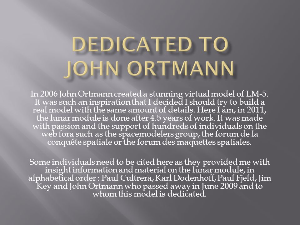 In 2006 John Ortmann created a stunning virtual model of LM-5.