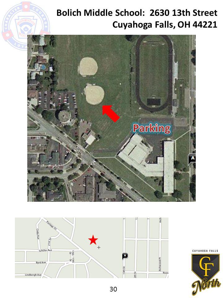 Bolich Middle School: 2630 13th Street Cuyahoga Falls, OH 44221 30