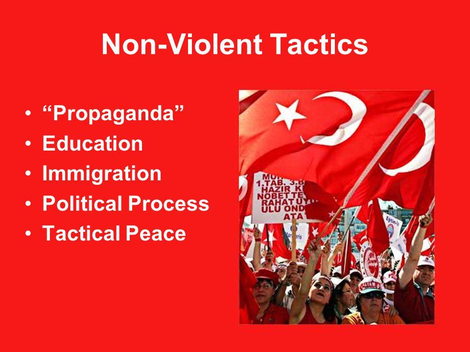 Non-Violent Tactics Propaganda Education Immigration Political Process Tactical Peace