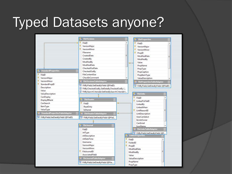 Typed Datasets anyone