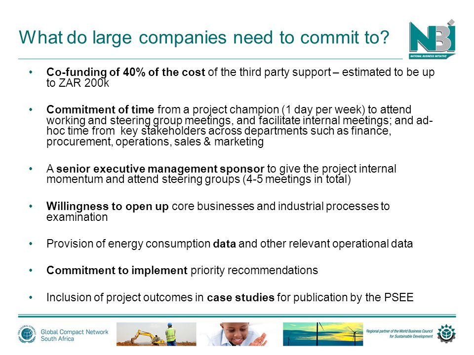 What do large companies need to commit to.